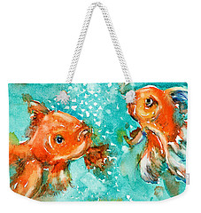 Bubbles Weekender Tote Bag by Judith Levins