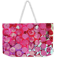 Weekender Tote Bag featuring the mixed media Bubbles by Mary Ellen Frazee