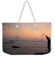 Bubbles On The Beach Weekender Tote Bag by Jim and Emily Bush