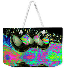 Weekender Tote Bag featuring the photograph Bubbles Redux by Jean Noren