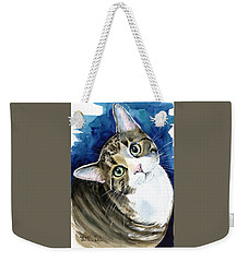 Bubbles - Tabby Cat Painting Weekender Tote Bag