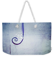 Weekender Tote Bag featuring the digital art Bubbling - 033a by Variance Collections