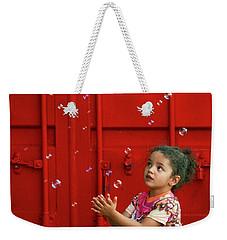 Bubbling Girl Weekender Tote Bag