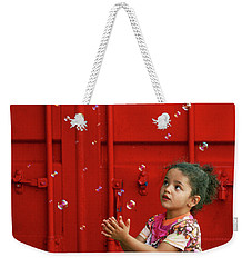 Bubbling Girl Weekender Tote Bag