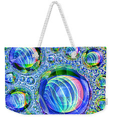 Weekender Tote Bag featuring the digital art Bubbly by Andreas Thust