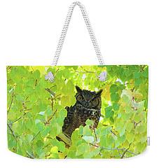 Bubo Virginianus Weekender Tote Bag