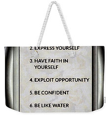 Buce Lee 10 Rules Of Success Weekender Tote Bag