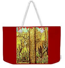 Buck And Deer  Weekender Tote Bag