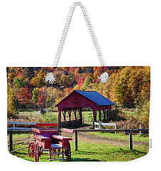 Weekender Tote Bag featuring the photograph Buck Board Ready For Fall Colors by Jeff Folger