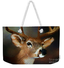 Weekender Tote Bag featuring the photograph Buck by Darren Fisher
