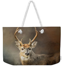 Buck In The Moonlight Weekender Tote Bag