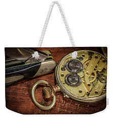 Buck Knife And Watch Weekender Tote Bag by Ray Congrove