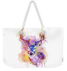 Weekender Tote Bag featuring the mixed media Buck by Marian Voicu
