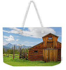 Buckaroo Barn In Rocky Mtn National Park Weekender Tote Bag