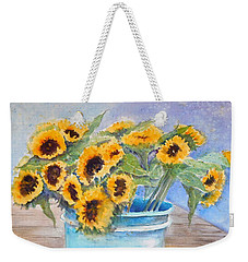 Bucket Of Sunflowers Weekender Tote Bag