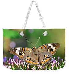 Buckeye Butterfly Weekender Tote Bag by Kathy Eickenberg