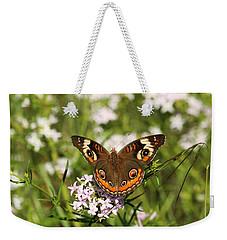 Buckeye Butterfly Posing Weekender Tote Bag