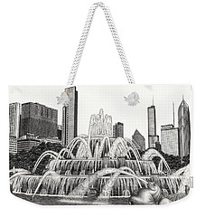 Buckingham Fountain Drawing Weekender Tote Bag