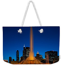 Buckingham Fountain Nightlight Chicago Weekender Tote Bag by Steve Gadomski