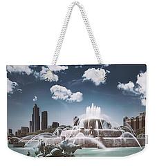 Buckingham Fountain Weekender Tote Bag