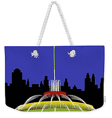 Buckingham Fountain Vintage Travel Poster Weekender Tote Bag