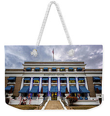 Weekender Tote Bag featuring the photograph Buckstaff Bathhouse - Christmas by Stephen Stookey