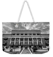 Weekender Tote Bag featuring the photograph Buckstaff Baths - Bw by Stephen Stookey