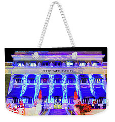 Weekender Tote Bag featuring the photograph Buckstaff Baths - Christmastime by Stephen Stookey