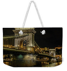 Weekender Tote Bag featuring the photograph Budapest Chain Bridge by Steven Sparks