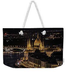 Budapest View At Night Weekender Tote Bag by Jaroslaw Blaminsky