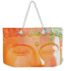 Weekender Tote Bag featuring the photograph Buddah Glow by Cindy Greenstein