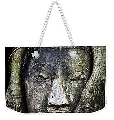 Buddha Head In Banyan Tree Weekender Tote Bag