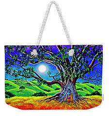 Buddha Healing The Earth Weekender Tote Bag by Laura Iverson