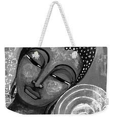 Buddha In Grey Tones Weekender Tote Bag by Prerna Poojara