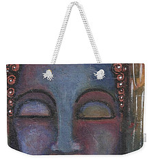 Buddha In Shades Of Blue  Weekender Tote Bag