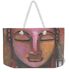 Buddha In Shades Of Purple Weekender Tote Bag