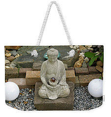 Buddha In The Garden Weekender Tote Bag