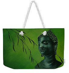 Weekender Tote Bag featuring the painting Buddha by Lynn Hughes
