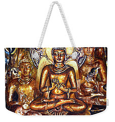 Buddha Reflections Weekender Tote Bag by Harsh Malik