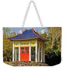 Weekender Tote Bag featuring the photograph Buddha Temple by Helen Haw