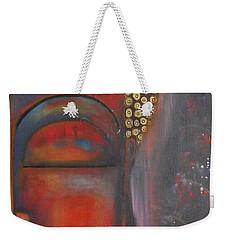 Buddha With Floating Lotuses Weekender Tote Bag by Prerna Poojara