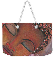 Buddha With Pink Lotus Weekender Tote Bag