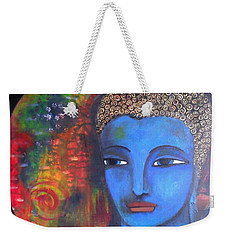 Buddha Within A Circular Background Weekender Tote Bag