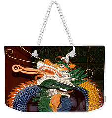 Buddhist Temple Sculpture - Korean Dragon Weekender Tote Bag