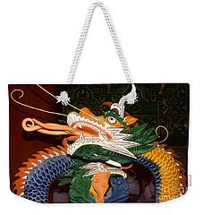 Buddhist Temple Sculpture - Korean Dragon Weekender Tote Bag