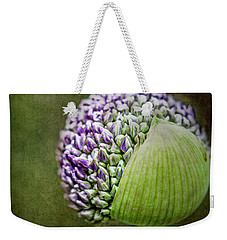 Weekender Tote Bag featuring the photograph Budding Allium by Jessica Manelis