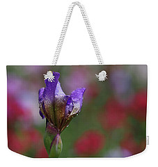 Budding Purple Iris Weekender Tote Bag