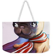Buddy The Pug Weekender Tote Bag by Catia Cho