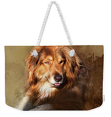 Weekender Tote Bag featuring the photograph Buddy by Theresa Tahara