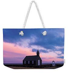 Budir Black Church Weekender Tote Bag